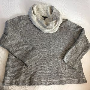 Eileen Fisher Cotton Terry Cowl Neck Sweater